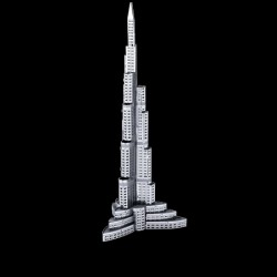 Metal Earth Burj al Khalifa Silver Edition